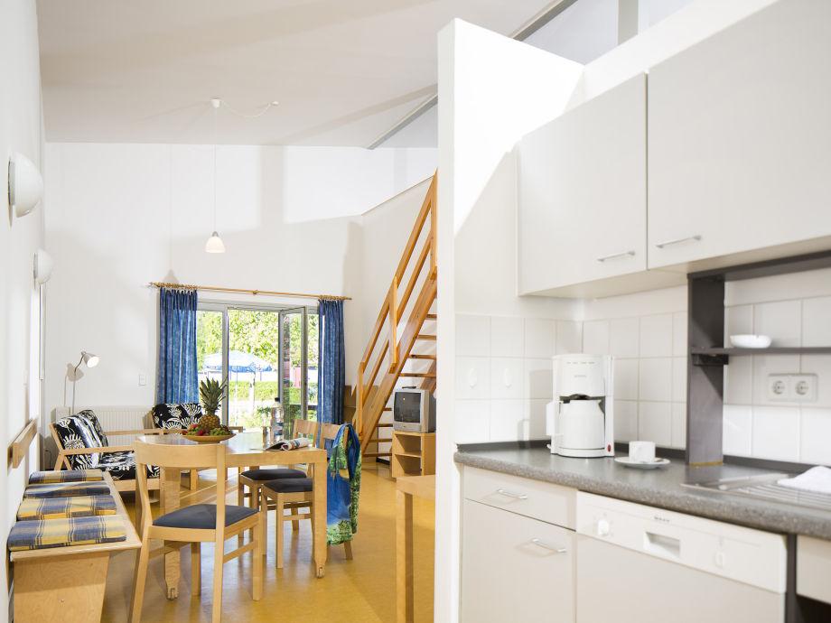 Wohn- und Kochbereich im Ferienhaus Typ 1
