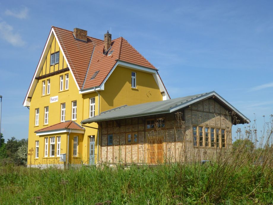 Außenaufnahme Bahnhof Harpe (Altmark)