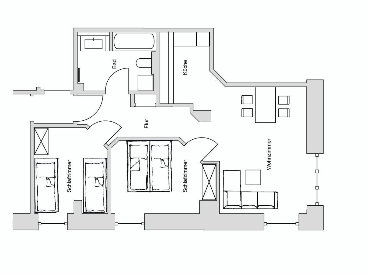 ferienwohnung am kurpark wohnung 1 60 qm garmisch partenkirchen oberbayern familie. Black Bedroom Furniture Sets. Home Design Ideas