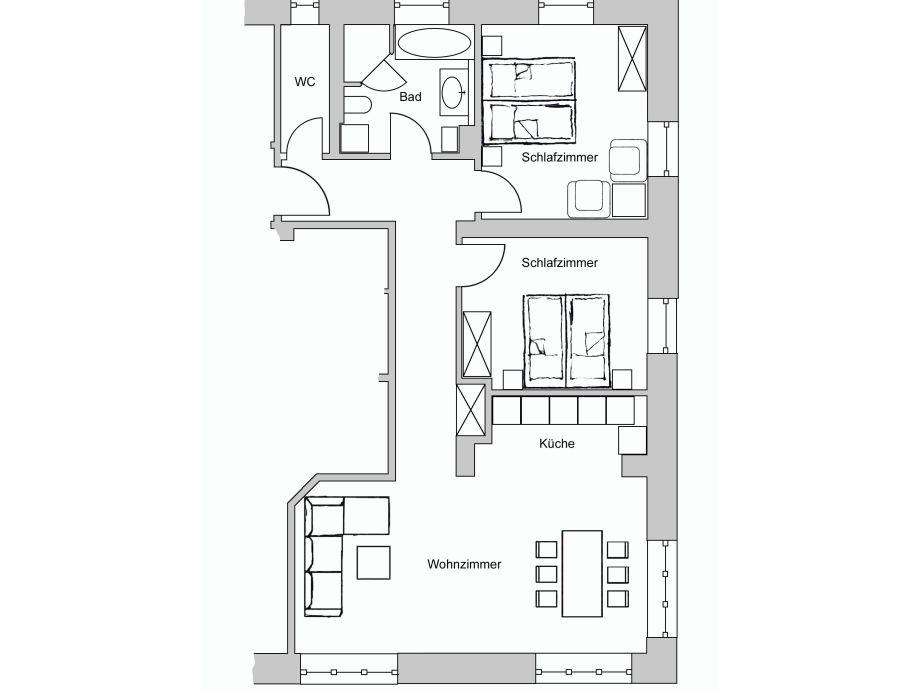 ferienwohnung am kurpark wohnung 2 90 qm garmisch partenkirchen oberbayern familie. Black Bedroom Furniture Sets. Home Design Ideas
