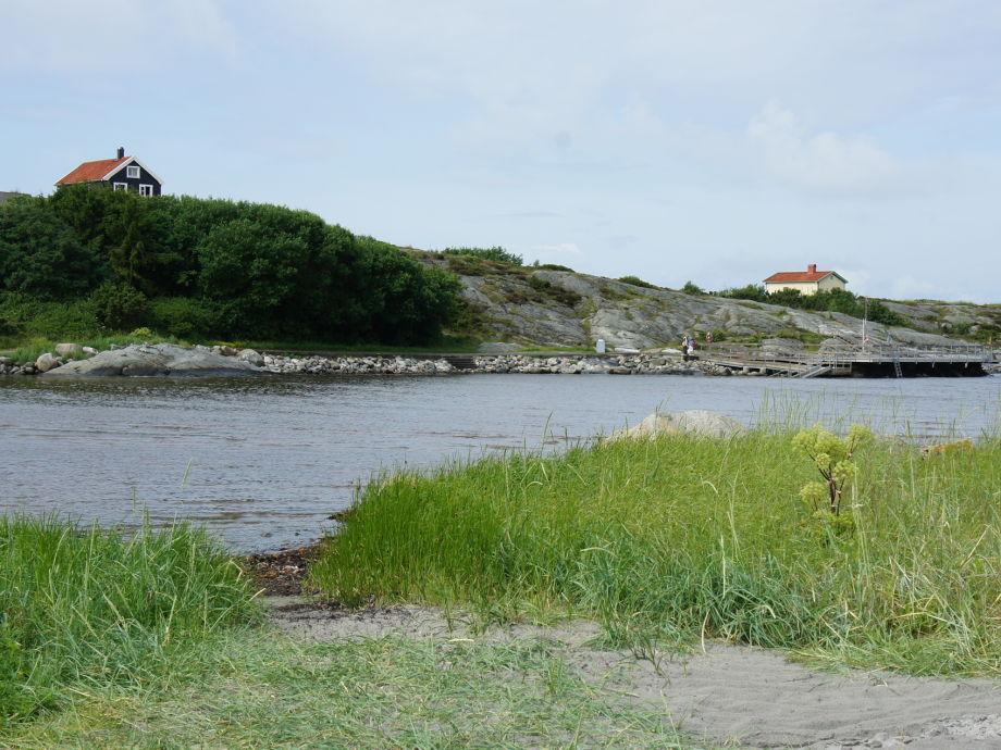 Måsens Havsbad vom Strand aus