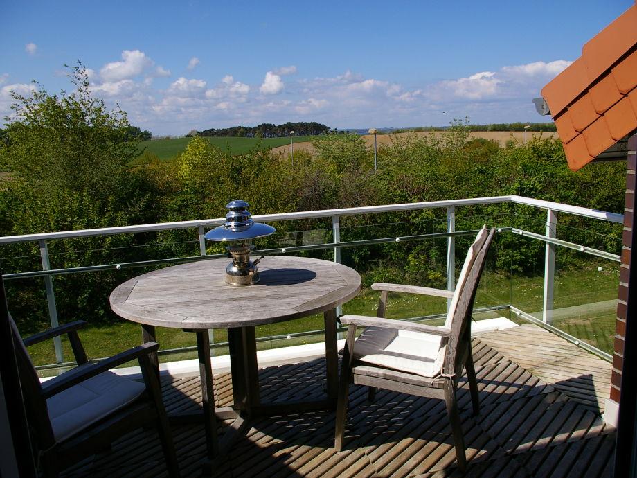 Vom Balkon Aussicht auf die Ostsee