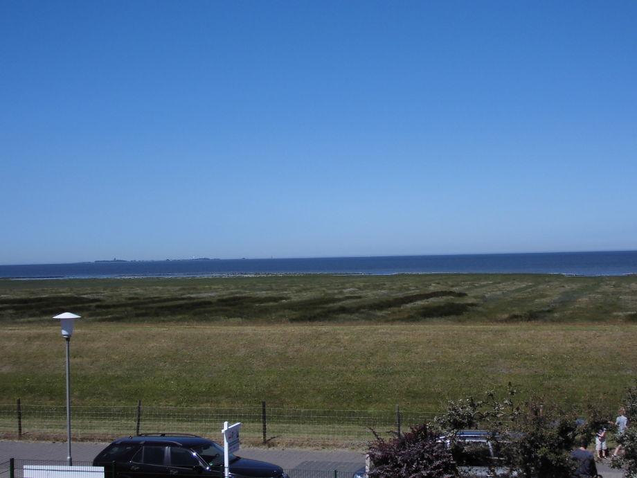 Blick vom Balkon auf die Nordsee und auf Neuwerk