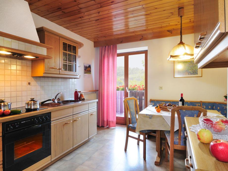 Küche einer Wohnung in der Residence Pichler