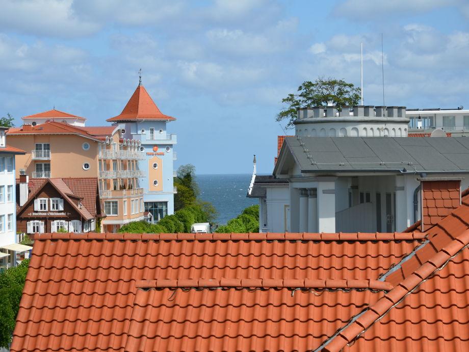 Traumhafter Ausblick vom Balkon auf die Ostsee