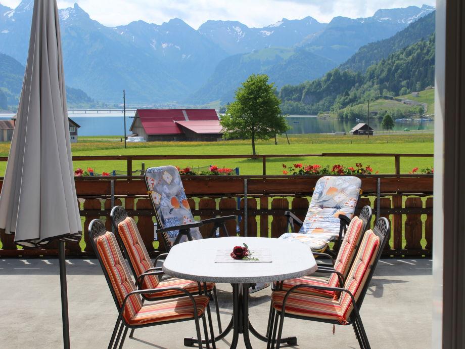 Ihr Sitzplatz auf der Terrasse