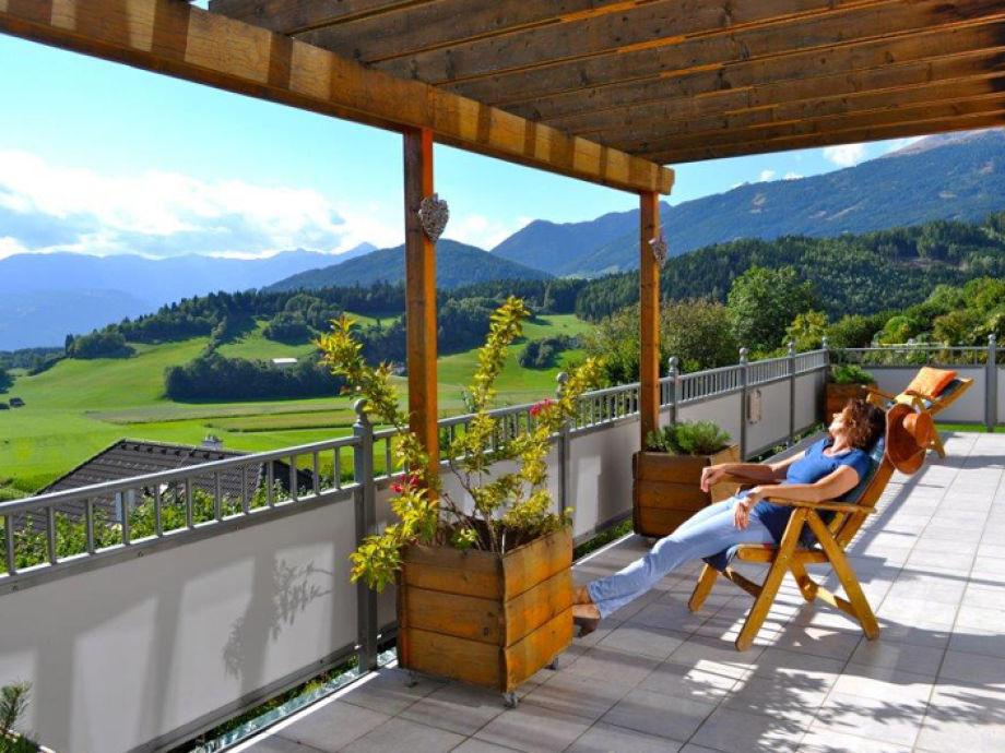 Traumhafter Ausblick auf der herrlichen Terrasse
