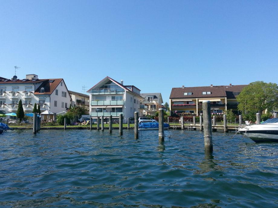 Die Hausansicht der Ferienwohnung am Bodensee