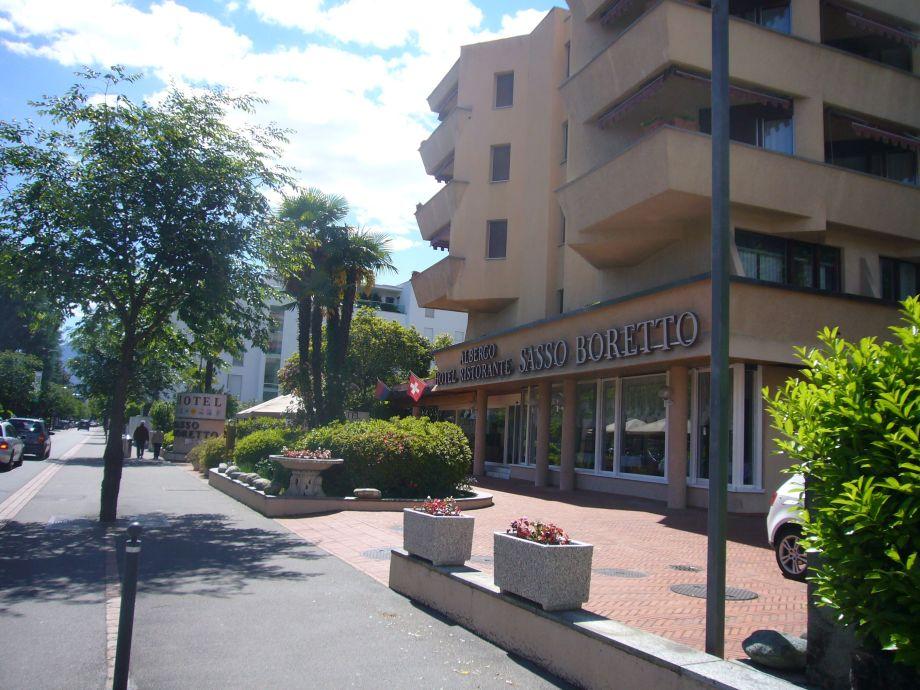 Aussenansicht vom Hotel Sasse Boretto