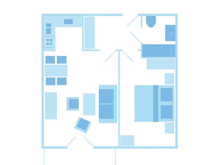 ferienwohnung appartmenthaus meerlust m309 fischland dar zingst firma p i k zingst gmbh. Black Bedroom Furniture Sets. Home Design Ideas