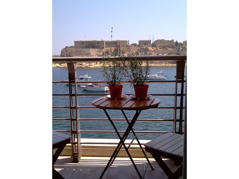 Enjoying stunning views from the balcony