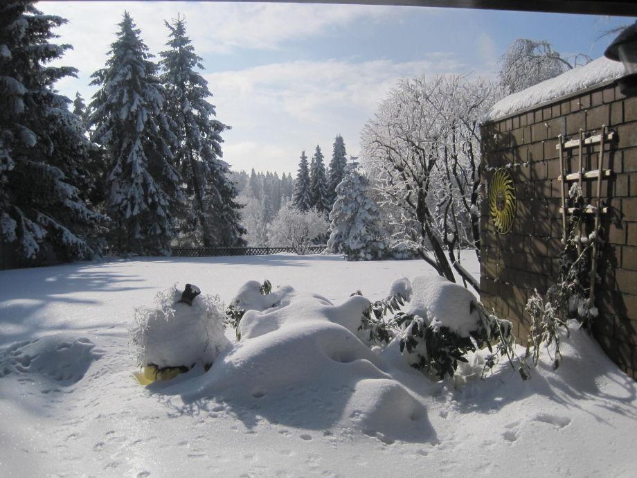 Traumhafter Terrassenblick im Winter