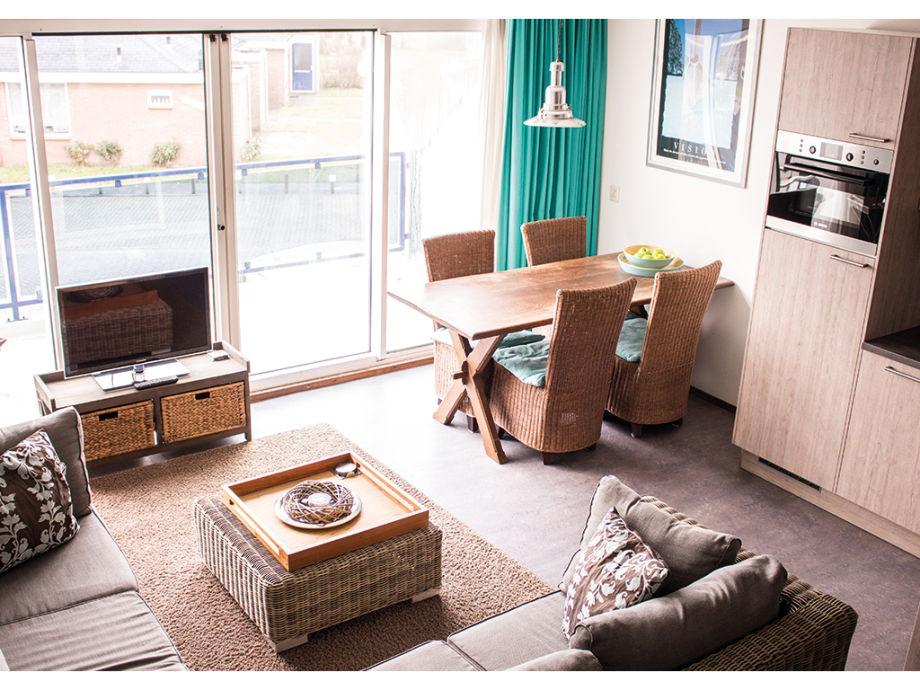 Das Wohnzimmer in der Ferienwohnung Seinpost 26