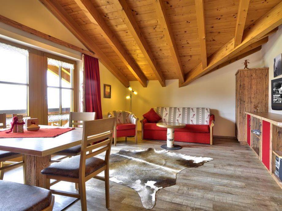 Ferienwohnung Gipfelsicht - Wohnzimmer