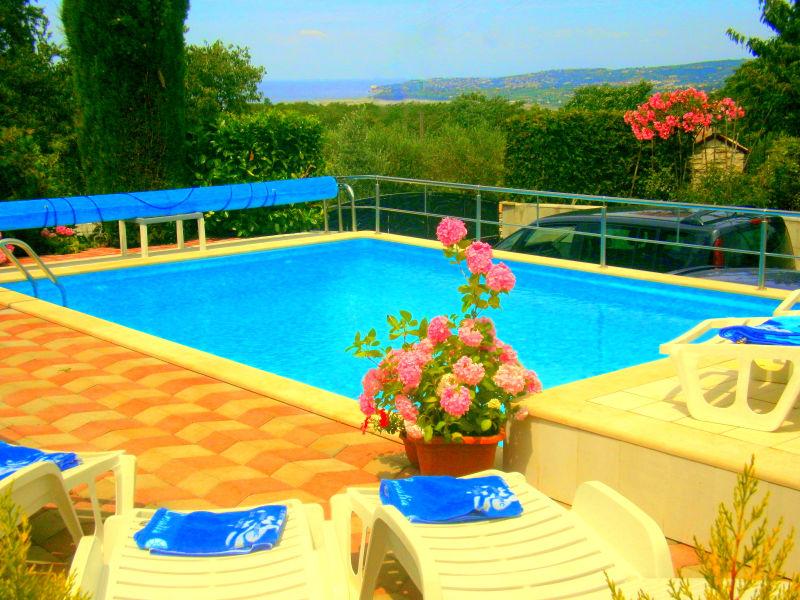 Ferienhaus Mira mit beheiztem Pool, und Blick auf das Meer