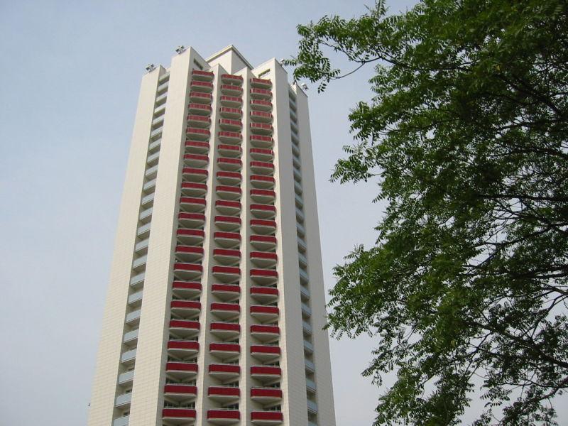 """Holiday apartment """"Schwanenteich"""" in the Wintergarten high rise."""