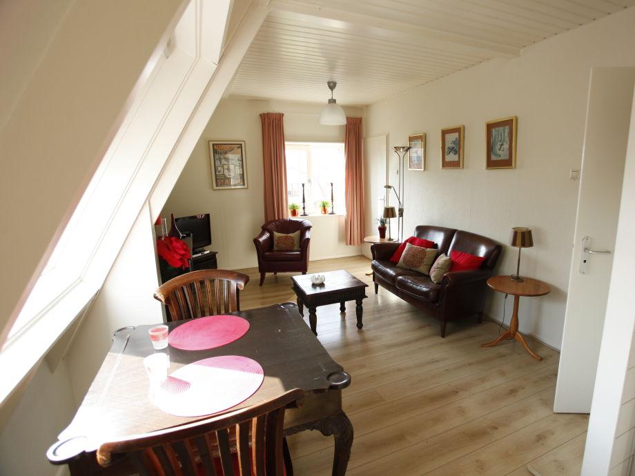 apartment brouwer mit sauna, nord-holland, egmond aan zee - frau v, Wohnzimmer