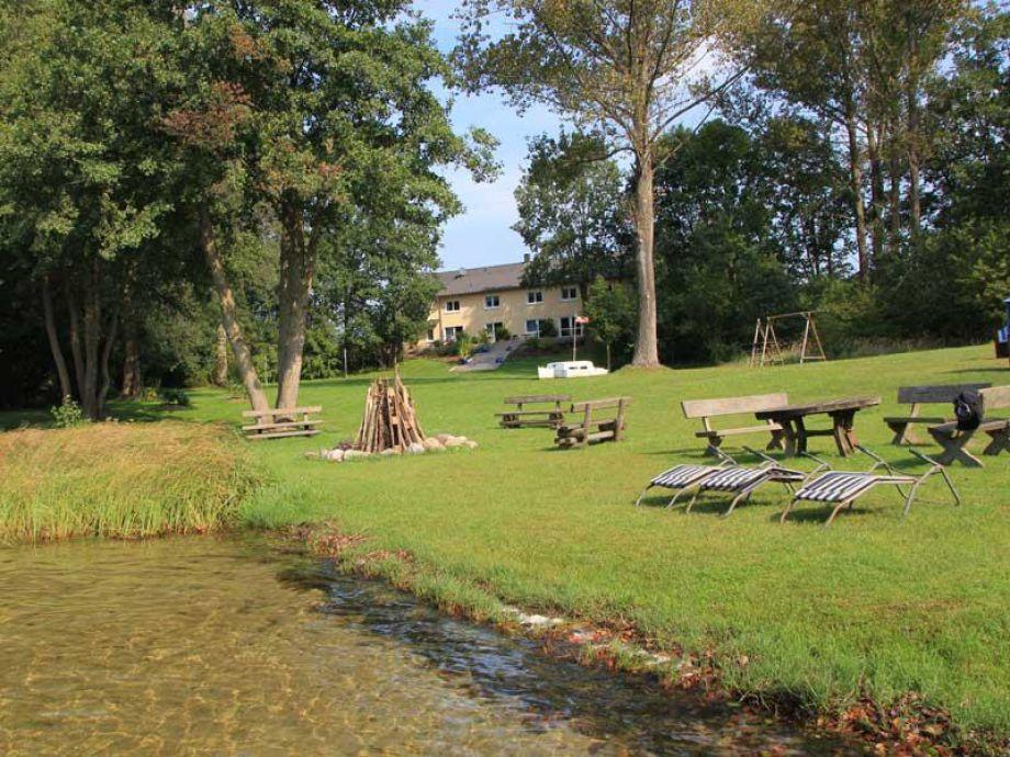 Außenaufnahme Ferienwohnung 1 am Glambecksee