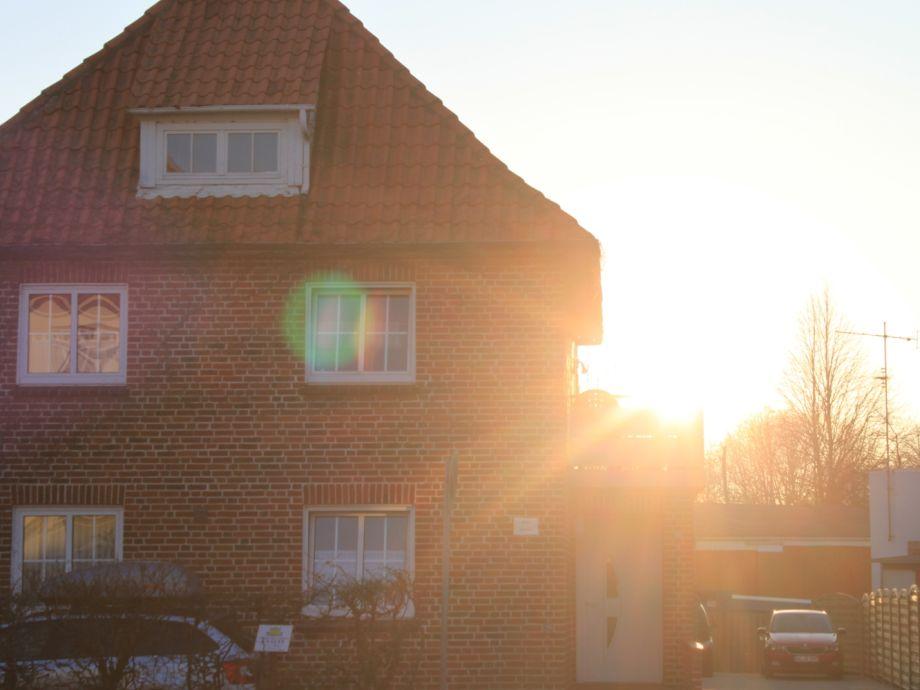 Haus Andreas im Sonnenuntergang