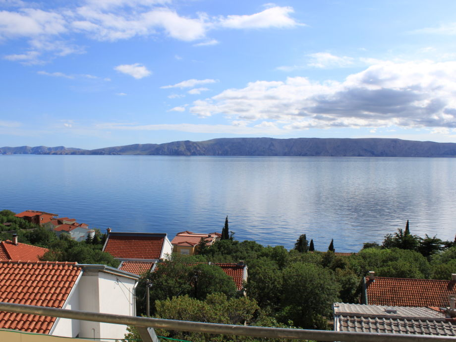 Balkonblick auf die Insel Krk