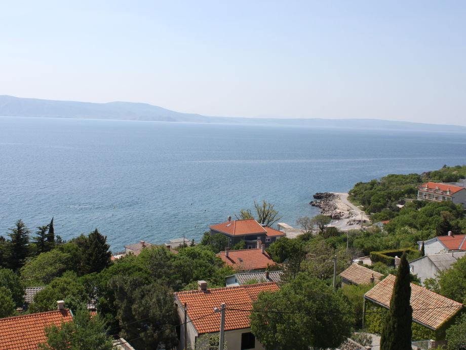 Balkonblick über den Ort