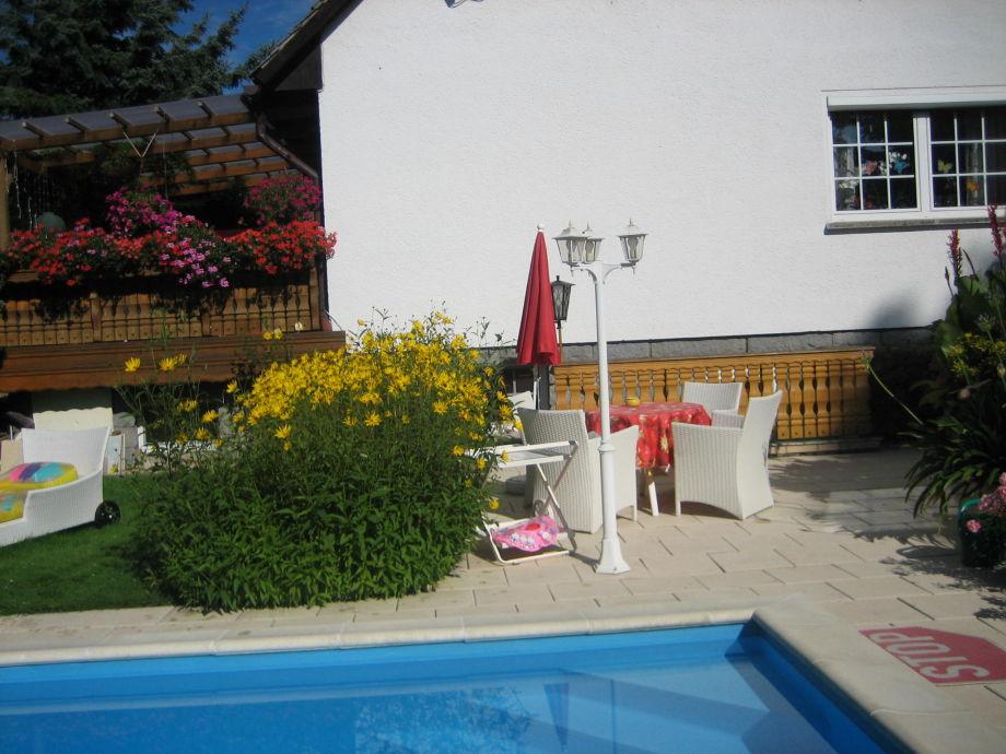 Sitzecke Poolbereich