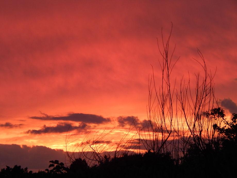 Sonnenuntergang nach einem herrlichen Junitag -