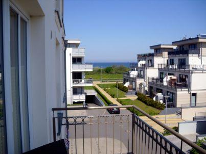 Apartment mit Ostseeblick vom Balkon