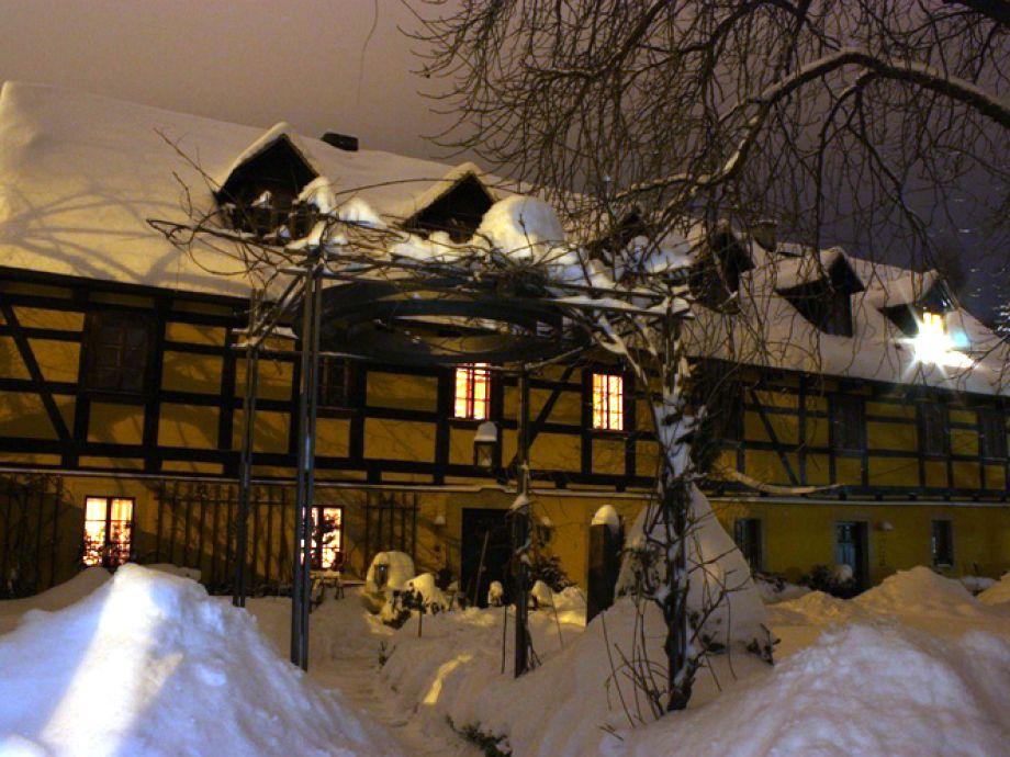 Kastanienhof in einer Winternacht