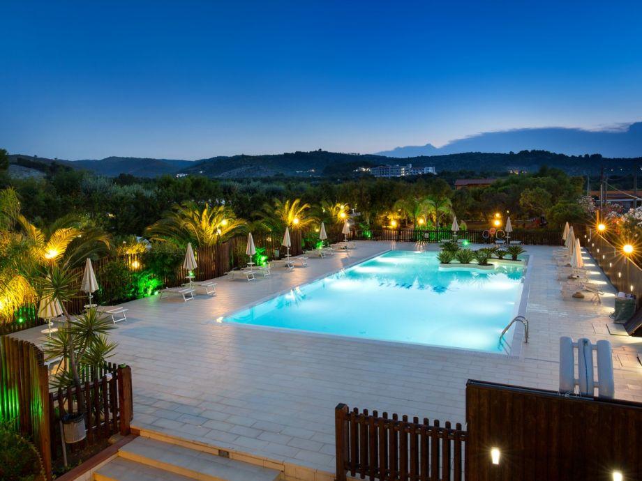 Der Pool der Ferienwohnugnen im Villaggio Mirage