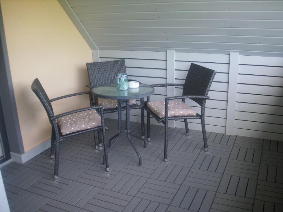 Balkon mit gemütlicher Sitzecke