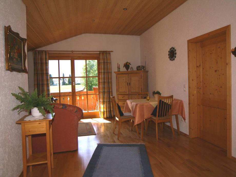 Wohnzimmer Ferienwohnung Barbara