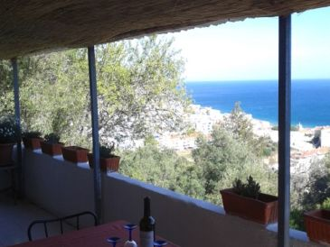 Rustikales Ferienhaus mit Blick auf den Atlantik