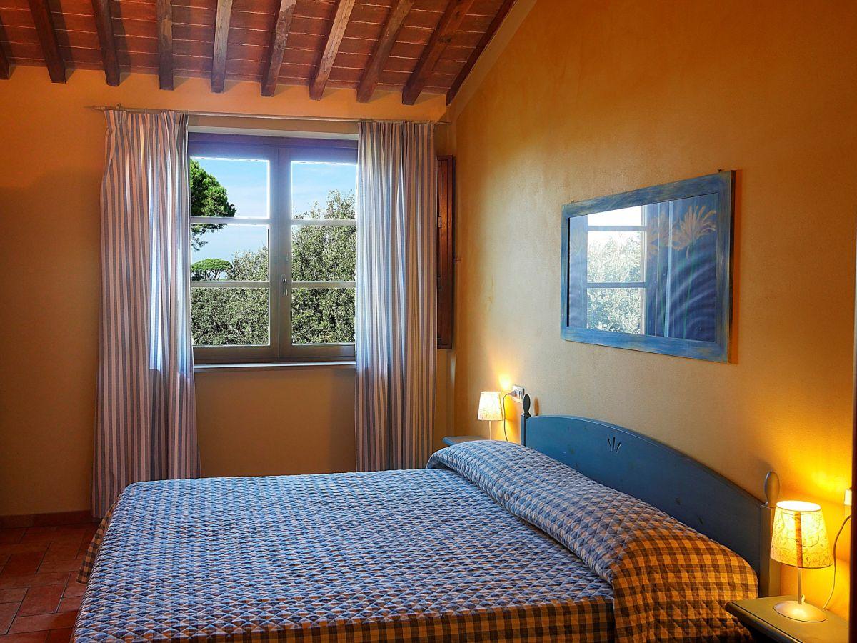 Schlafzimmer Ti   Ferienwohnung Il Pelago Castagneto Carducci Firma Fattoria Casa Di