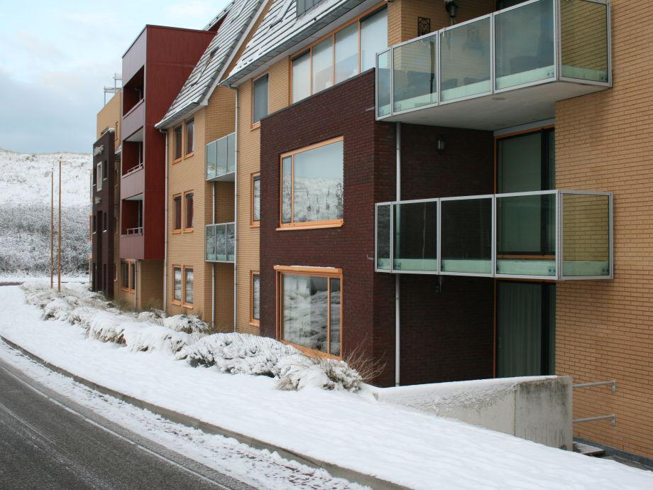Callantsoger Staete Zeeweg in Winter