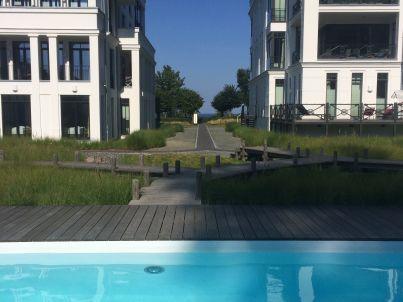 NEU! 5 Sterne Luxusapartment Sellin Am Strand, direkter Meerblick, 115 qm