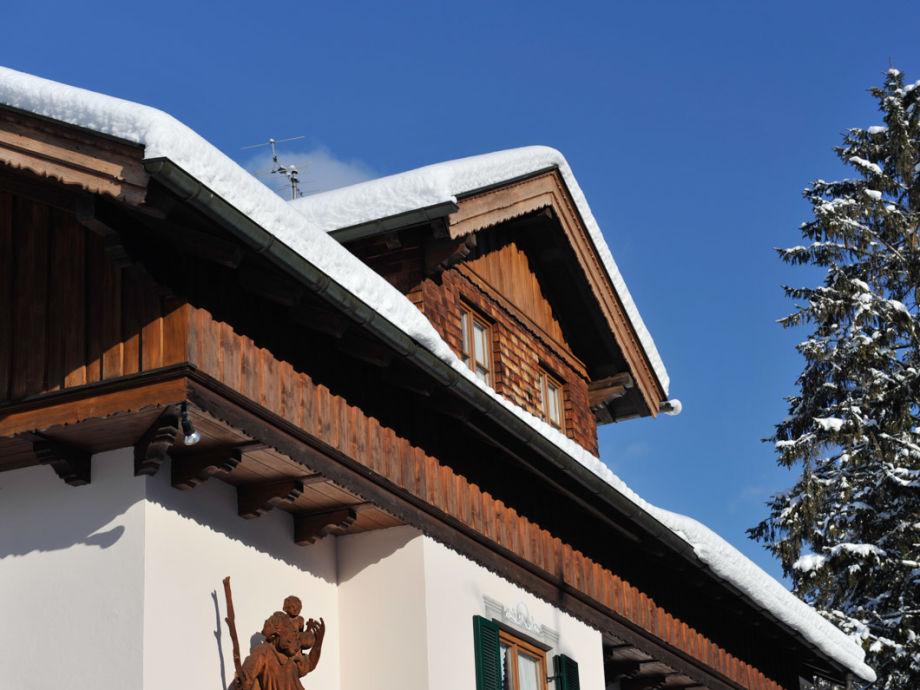 Ferienwohnung Ferienglück Haus im Winter