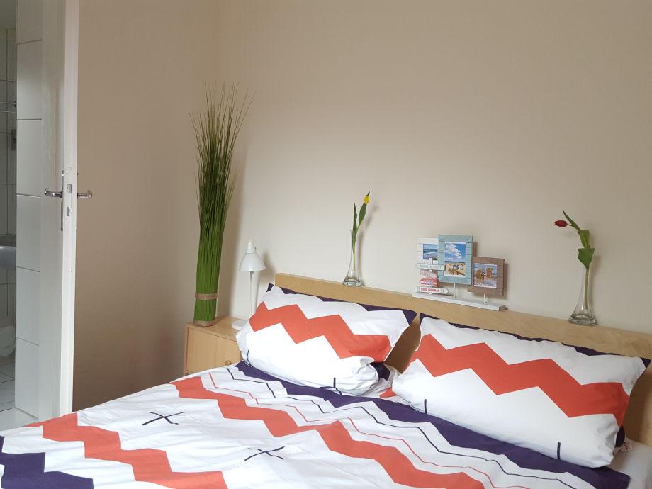 Schlafzimmer drei mit Terrassenzugang
