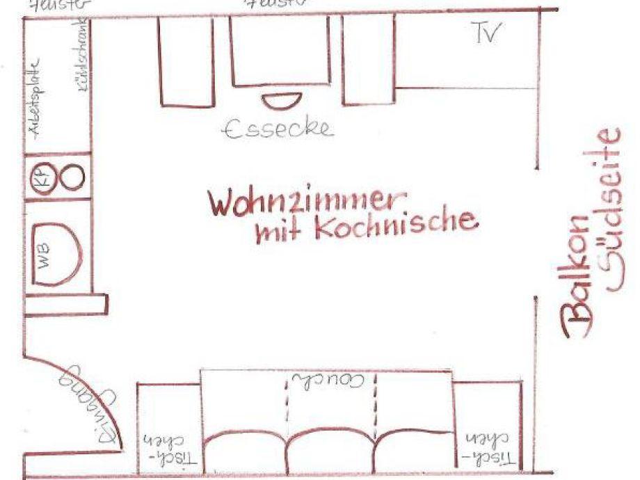 Grundriss Wohnzimmer Mit Kochnische