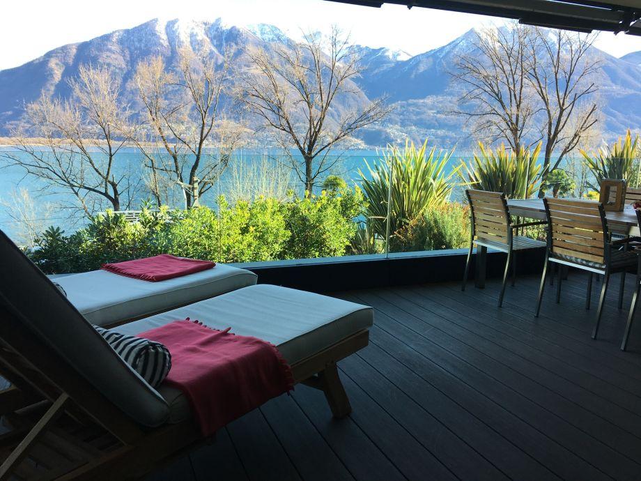 Designer Ferienwohnung Locarno Minusio mit See und