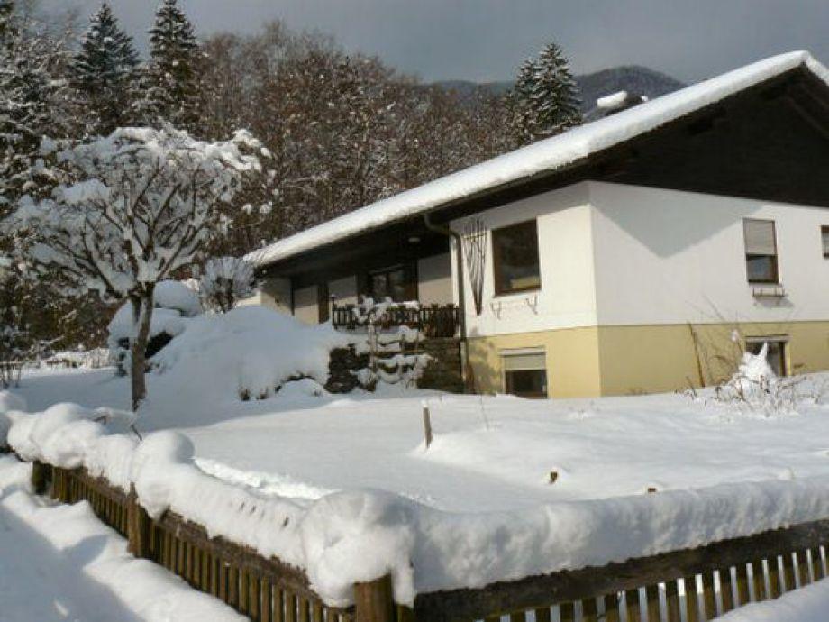 Ferienhaus Steinweiden im Winter