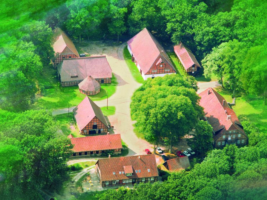 Luftaufnahme des Forstgutes Rehrhof