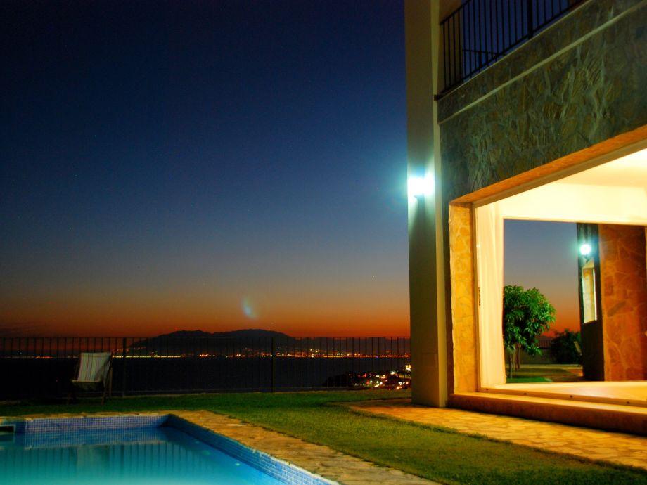 Sicht auf die Bucht von Malaga