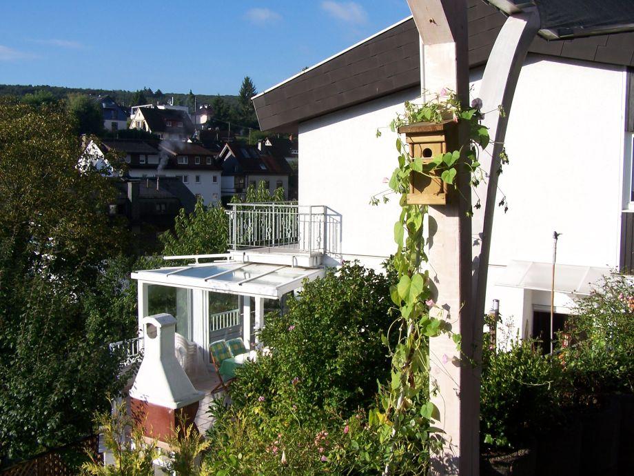 "Seitenansicht Whg. ""Talblick"", Wintergarten, Grillkamin"