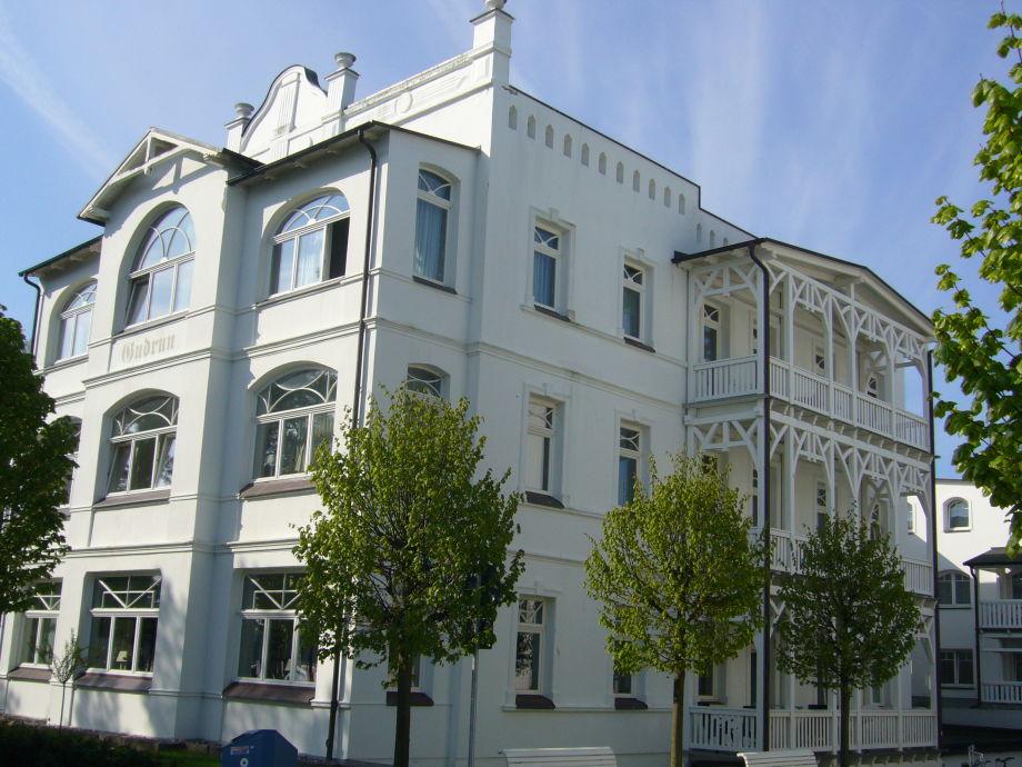 Villa Gudrun aus Richtung Strand gesehen