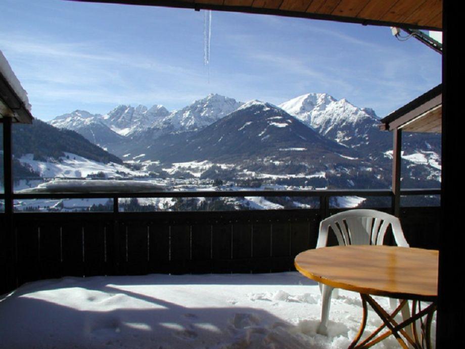 Ausblick Terrasse Winter