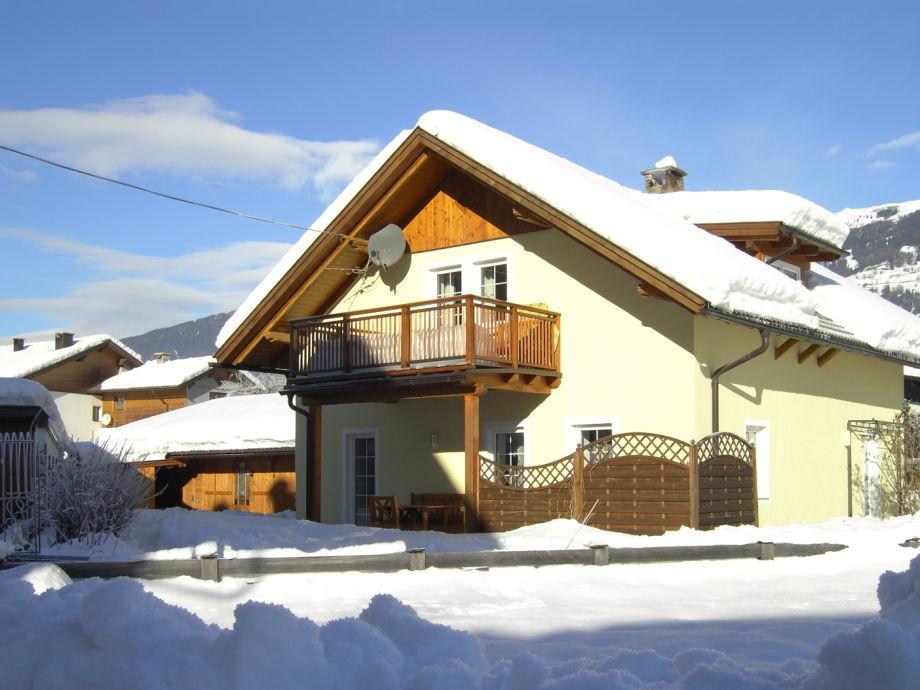 Ferienwohnung-Balkon im Winter