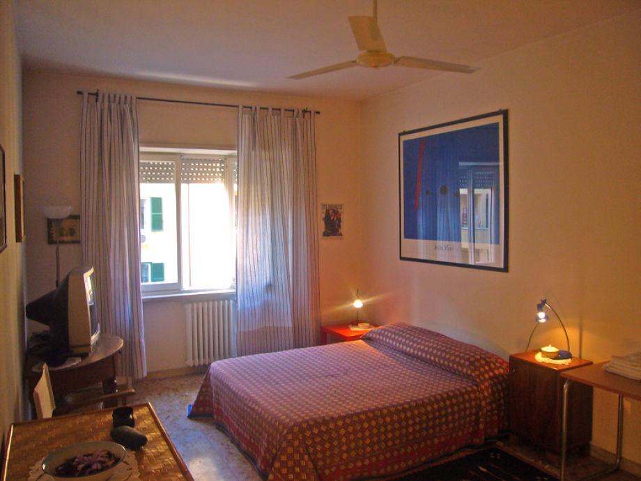 Das Schlafzimmer der Ferienwohnung Gallia