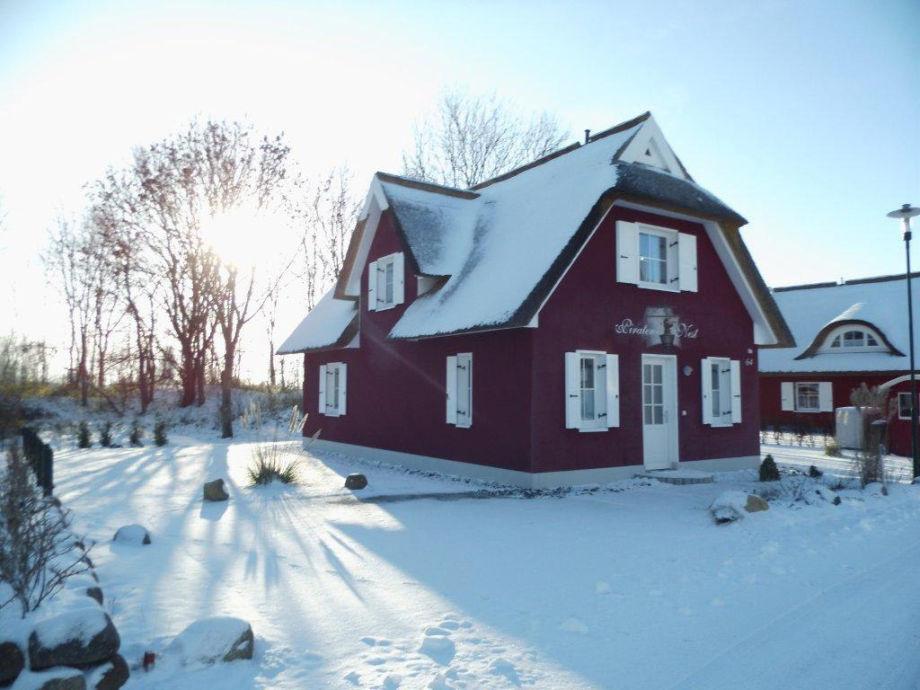 Mit Sauna und Kamin ist auch der Winter gemütlich.