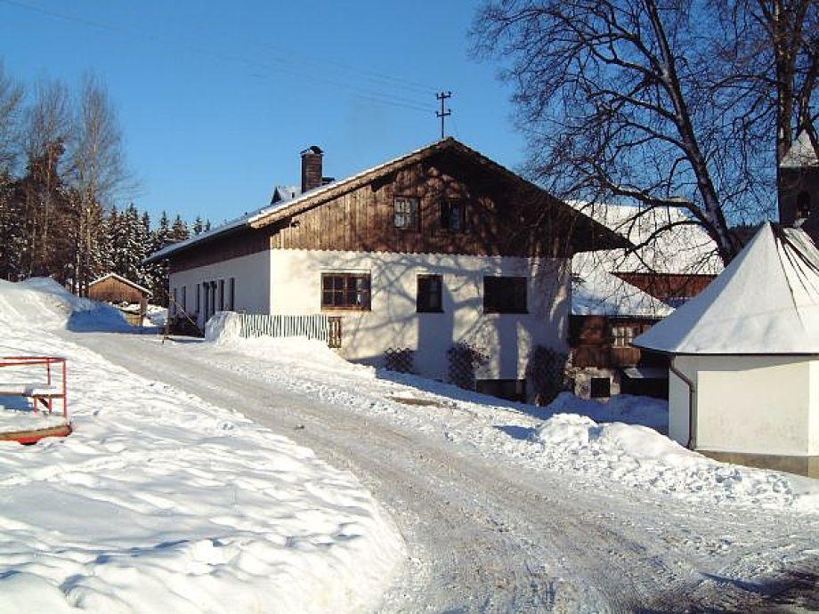 Der Maderhof im Schnee